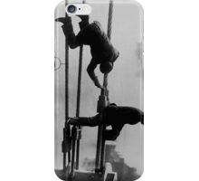 Brooklyn Bridge Painters Vintage Photograph (1915) iPhone Case/Skin