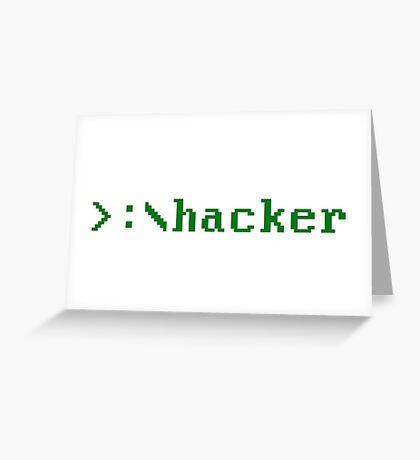 Hacker 2.0 Greeting Card