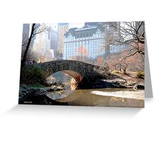 A bridge made of stones, a path supported by boulders Greeting Card