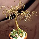 GOLDEN MAPLE  - Mini Wire Tree Sculpture by Sal Villano