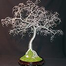 HAMMERED LEAVES BONSAI - Wire Tree Sculpture by Sal Villano