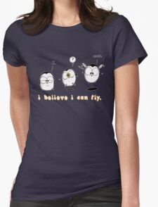 I Believe I Can Fly Womens Fitted T-Shirt