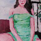 Fidgety in Mint Green by Ashley Huston