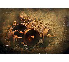 Ore Car Wheels Photographic Print