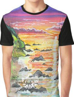 rocky beach sunrise Graphic T-Shirt