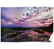Broad Creek September Sunset Sky Poster