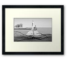 On the Lake Shore Framed Print