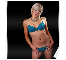 Tracey - Turquoise Lingerie Poster