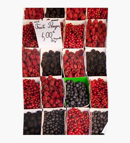 Berries in a provencal market Poster