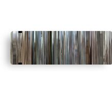 Moviebarcode: Rubber (2010) Canvas Print
