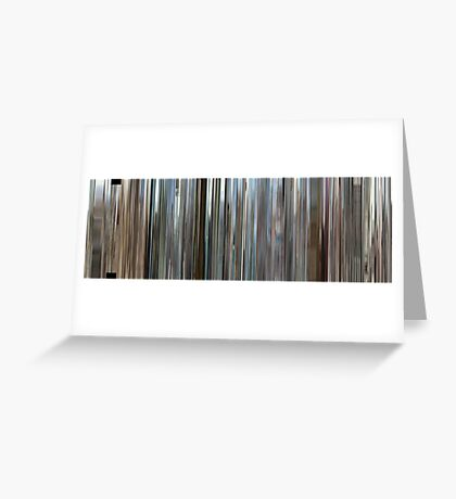 Moviebarcode: Rubber (2010) Greeting Card