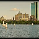 color boats on the Charles by apsjphotography