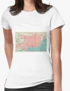 Vintage Map of Buenos Aires Argentina (1888) Womens Fitted T-Shirt