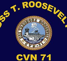 USS Theodore Roosevelt (CVN-71) Crest for Dark Colors by Spacestuffplus
