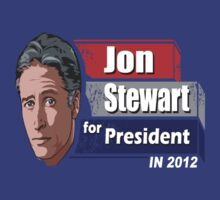 Jon Stewart Daily Show For President by BUB THE ZOMBIE
