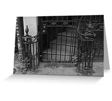 French Quarter Wrought iron Greeting Card