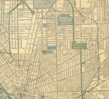 Vintage Map of Buffalo New York (1891) Sticker