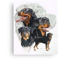 Rottweiler /Ghost Canvas Print