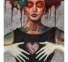 Muertos Day of the dead heartless Sylvia Lizarraga by Sylvia Lizarraga