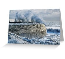 Winter Storms 2 ~ Lyme Regis Greeting Card