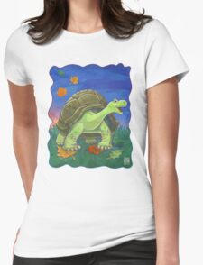 Animal Parade Tortoise Womens Fitted T-Shirt
