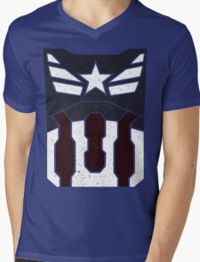American Shield - Distressed Mens V-Neck T-Shirt