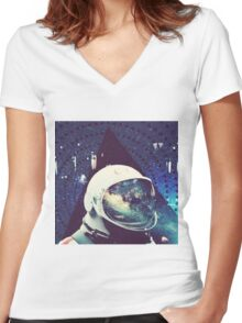 New Mountains Women's Fitted V-Neck T-Shirt