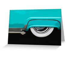 Turquoise Skirt Greeting Card