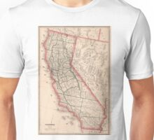 Vintage Map of California (1883) Unisex T-Shirt