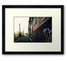 Vintage Alley Framed Print