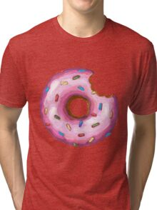 Big Bite Donut  Tri-blend T-Shirt