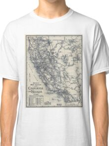 Vintage California and Nevada Road Map (1920) Classic T-Shirt