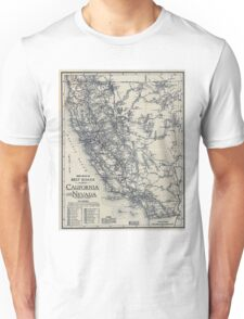 Vintage California and Nevada Road Map (1920) Unisex T-Shirt