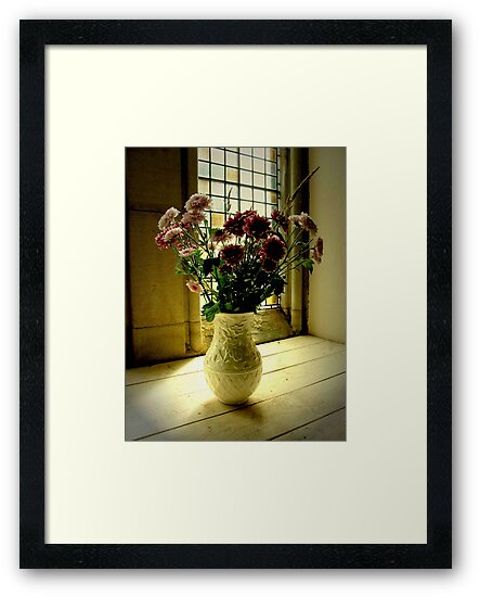 Flowered Window Light Raphoe, Donegal, Ireland by mikequigley