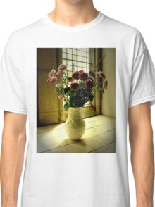 Flowered Window Light Raphoe, Donegal, Ireland Classic T-Shirt