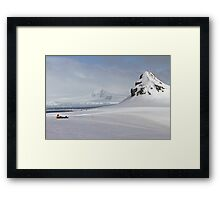 whaler's bay, Deception Island, the South Shetland Islands archipelago,  Framed Print