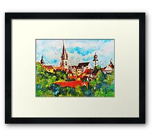 Summertime in One of Draculas Cities Framed Print