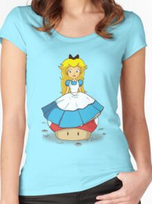 Peaches in Wonderland Women's Fitted Scoop T-Shirt