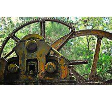 Sugar Mill Gears Photographic Print