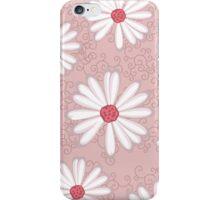 Soft Pastel Pink Daisy Flower Tribal Tattoo Design iPhone Case/Skin
