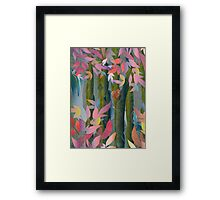 Autumn by a Waterfall Framed Print