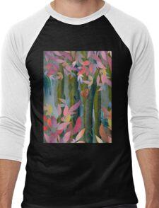 Autumn by a Waterfall Men's Baseball ¾ T-Shirt
