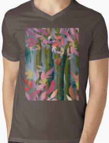 Autumn by a Waterfall Mens V-Neck T-Shirt