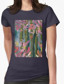 Autumn by a Waterfall Womens Fitted T-Shirt