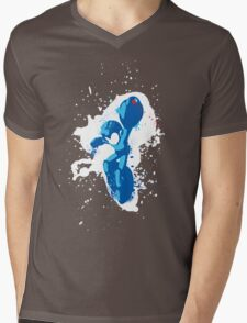 Mega Man Splattery Shirt or Hoodie - Any Color Mens V-Neck T-Shirt