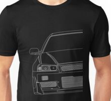 R34 outline - white Unisex T-Shirt