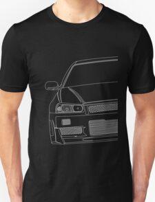 R34 outline - white T-Shirt