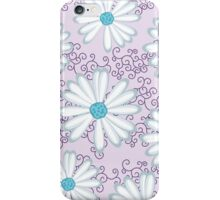 Sweet Lilac and Turquoise Daisy Flower Pattern iPhone Case/Skin
