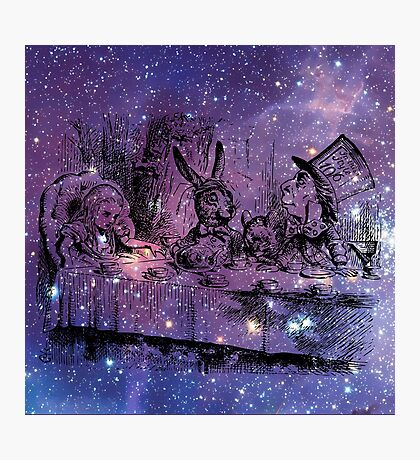 Mad Hatters Tea Party In Space Photographic Print