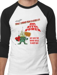 Things I Learned from B-Movies #3 Men's Baseball ¾ T-Shirt